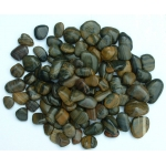 Highly-polished striped pebbles