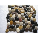 Highly-polished mixed color pebbles